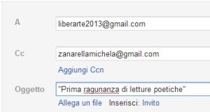 ragunanza invio e-mail