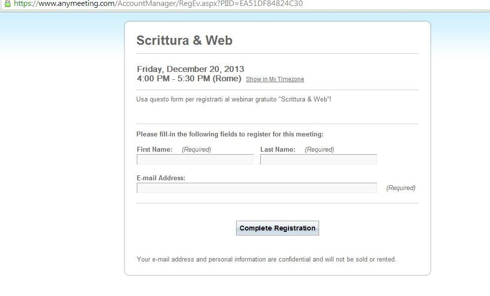 form webinar