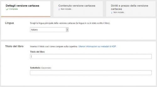 Procedura per pubblicazione libro cartaceo su Amazon